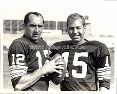 Zeke Bratkowski with Bart Starr